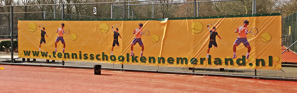 spandoek tennisschool kennemerland