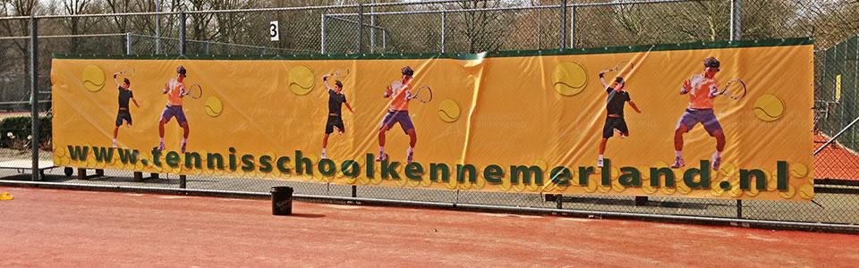 spandoek tennisschool kennemerland